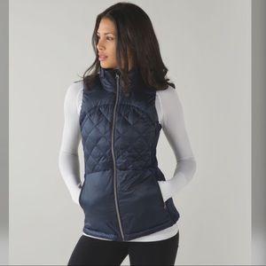 Down for a run vest, Lululemon, size 6